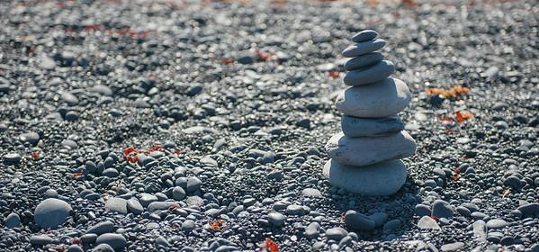 Djupalonssandur - A small stack.