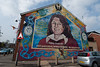 Belfast - Mural of Bobby Sands on the side of the Sinn Fein offices.