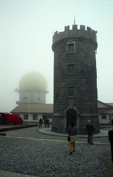 Serra da Estrela - Tower at the highest point in Mainland Portugal.