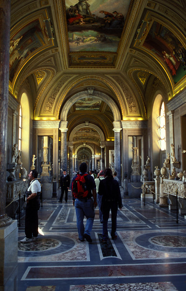 Roaming around the Vatican museum.