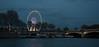 Paris - Ferris Wheel along the Seine.