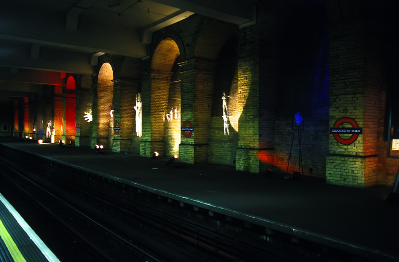 London - Art on display at the Gloucester Road Tube Station.