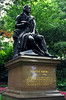 London - Robbie Burns statue at Victoria Embankment Gardens.