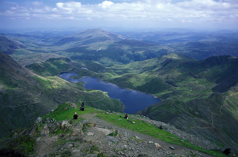 Wales - View from the top of Snowdon.