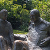 Chartwell - Sir Winston and Lady Churchill statue by Oscar Nemon.