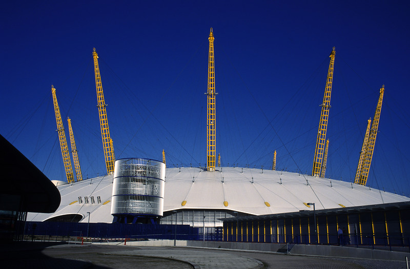 Millennium Dome during the morning rush. :-)