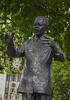 Nelson Mandela statue in Parliament Square.