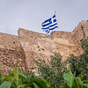 Flag on the Athens Acropolis