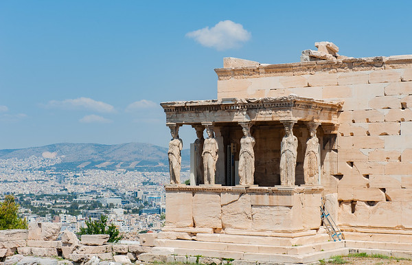 Athens - Acropolis - The Erechtheion.