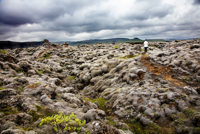 Lava field with Ana