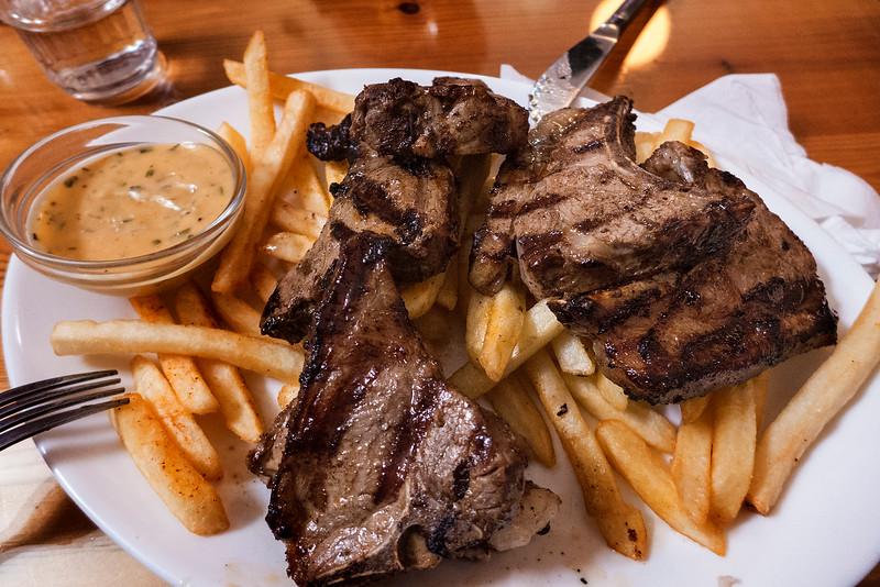 Lunch!  6 lamb chops