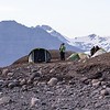 People camping at the Glacier Lagoon.