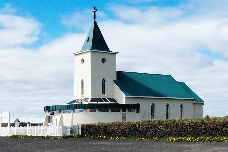 Church in Myvatin by Hotel Reynihlio