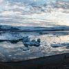 Jokulsarlon Glacier lagoon  panorama