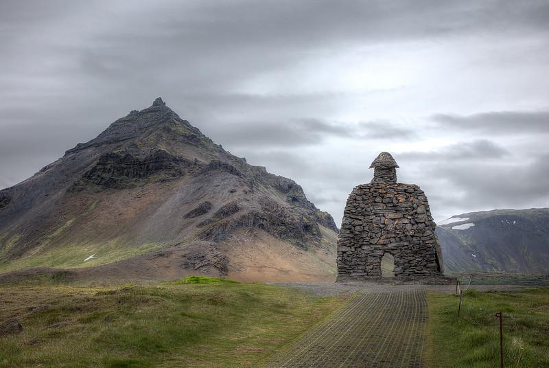 Monument to Bardur Snaefellsas by Raynar kjartansson