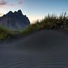 Vesturhorn mountains and Black Sand Beach, Hohn