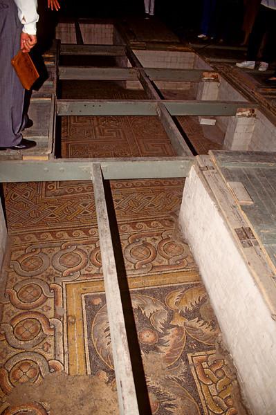 The actula floor of the church of the nativity