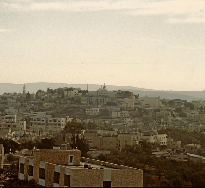Looks like Bethlehem as seen from Jerusalem.