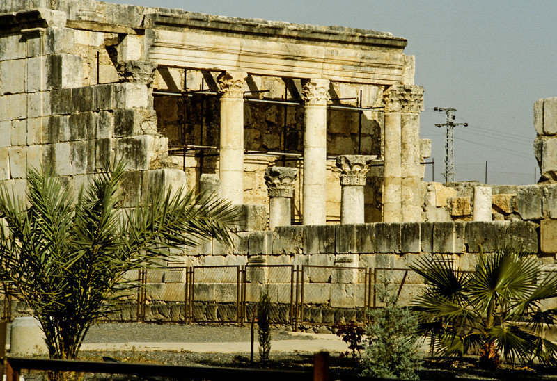 The white Synagogue of Capharnaum