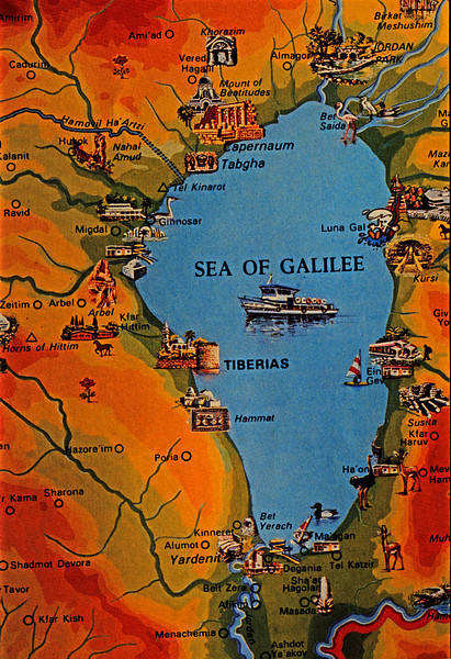 Map of Galilee,