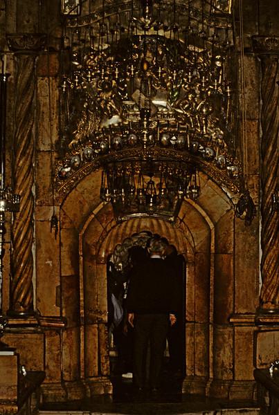Church inside a church. The Orthodox tomb of Christ.