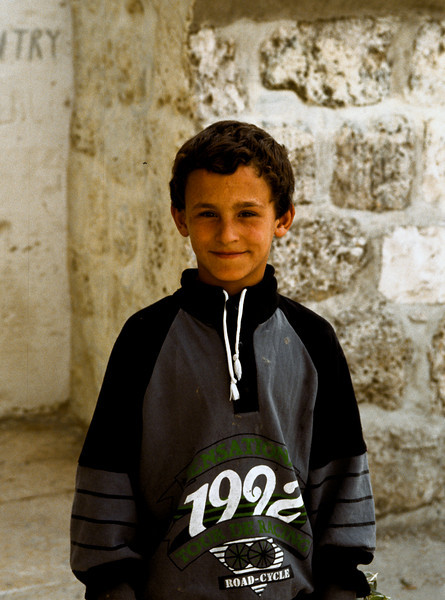 Young Palestinian boy before I gave him a roll of film.  He was thrilled