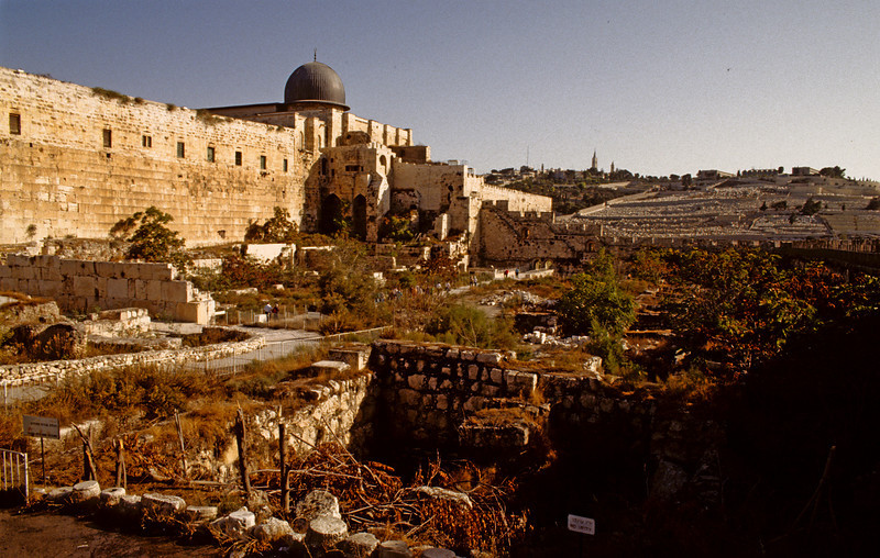 The wall of Jerusalem.