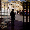 Guard at the entrance to the Western Wall 1992