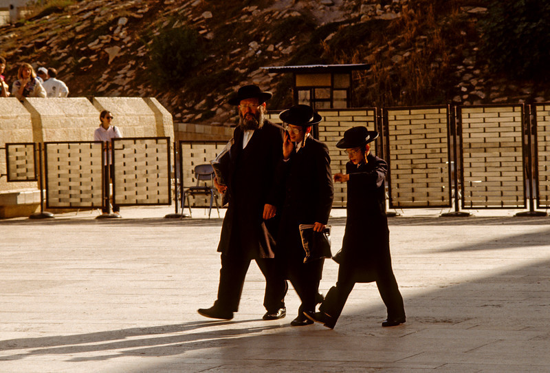 Jewish Hasidic at the Western Wall 1992