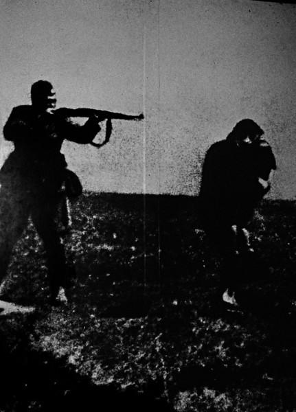 Photograph of the Germans killing of Jews, inside Yad Vashem