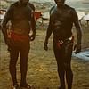 Black Mud from the Dead Sea that is supposed to be good for your skin.  Yep!  That's me on the right.  1990.