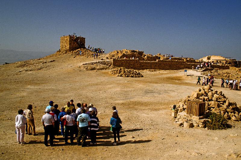 On top of Masada.