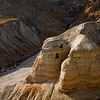 Qumran, where the Dead Sea scrolls were found.   First in this cave......