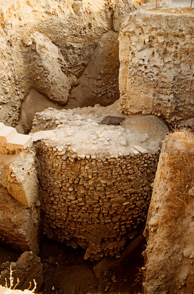 Jericho,  A 9 meter high ramp part of the foundations of the city date to 7000 years BC.