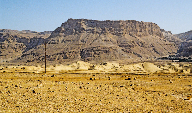Masada seen from a distance.