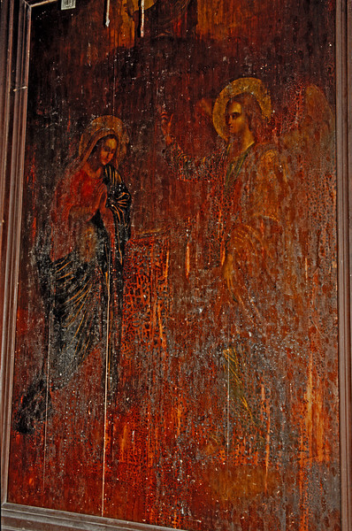 Very old painting at the Orthodox church.