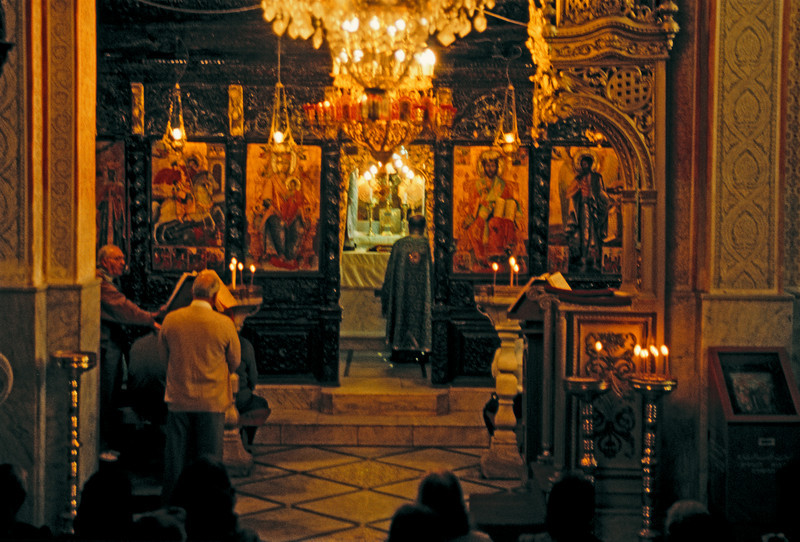 Orthodox Mass at a church over  Mary's Well