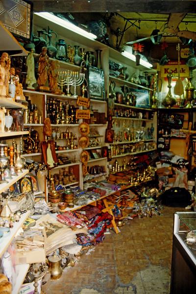 Arab tourist shops in Nazareth near the Church of the Annunciation