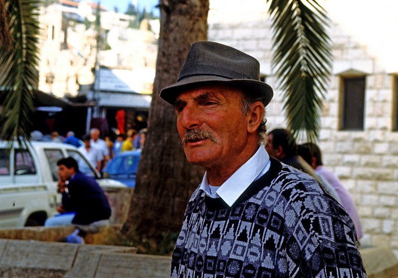 This man runs this street Arab tourist shop in Nazareth near the Church of the Annunciation.  He was here on both of my trips.  He had the best quality and lowest price anywhere in Israel....that I saw.