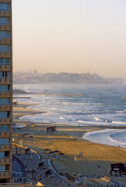 Jaffa seen in the distance from my hotel room in Tel Aviv