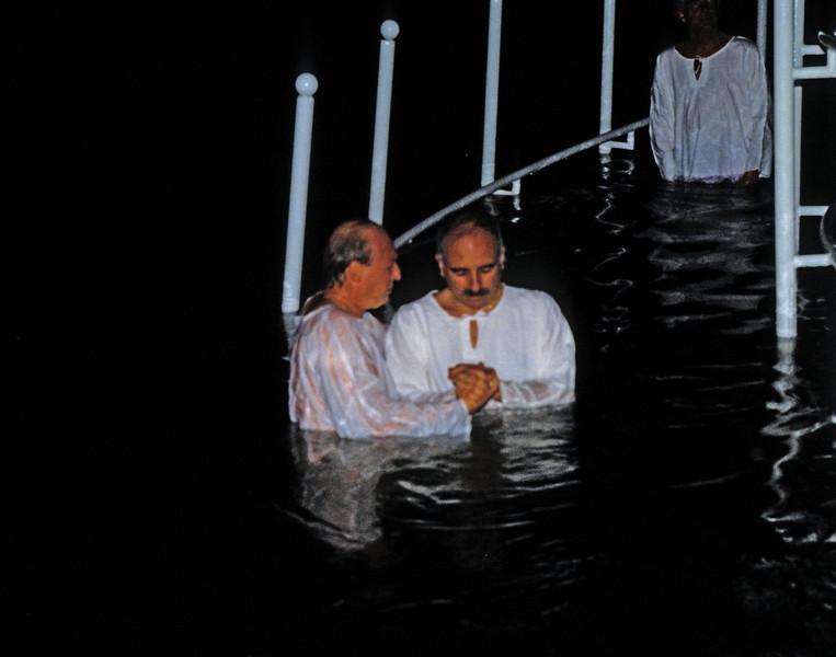Me, preparing for baptism in the Jordan river