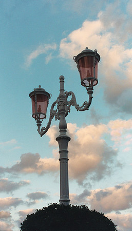 Lamp post near Cefalu, Sicily Italy