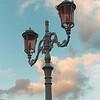 Lamp post near Cefalu, Sicily Italy