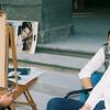 Firenze, Street vendor paints a big girl
