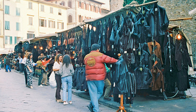 Leather Coats at the market in Firenze