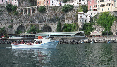 On the water heading into Amalfi