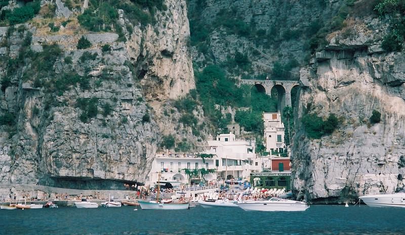 Alfredo restaurant between Amalfi and Positano