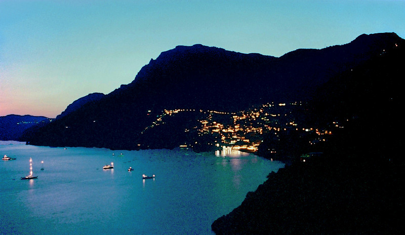 View of Positano from il San Pietro