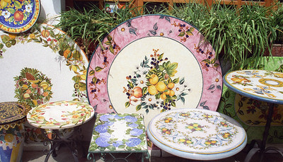 Amalfi, Ceramic table tops