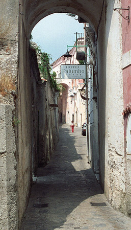 Walking the streets in Amalfi, cropped
